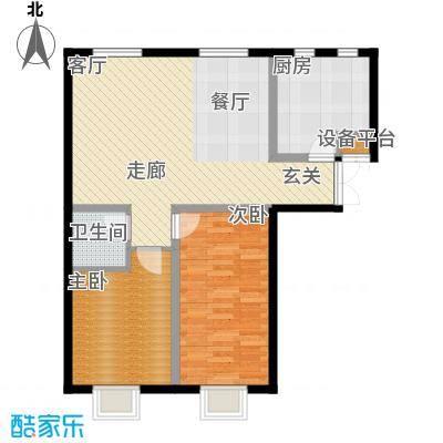书香名邸F二室二厅一卫户型