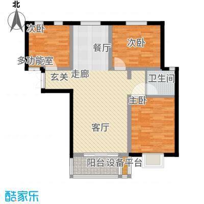 书香名邸1号楼两室两厅一卫户型