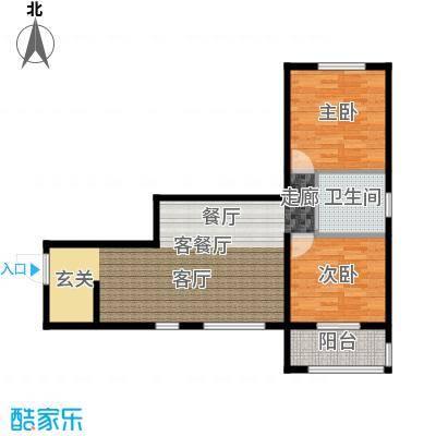 吉东托斯卡纳二室二厅一卫97.43户型2室2厅1卫