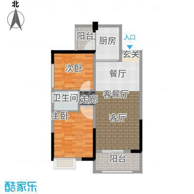 吉东托斯卡纳83.77㎡吉东・托斯卡纳两室两厅一卫约83.77-93.12平米户型图户型2室2厅1卫
