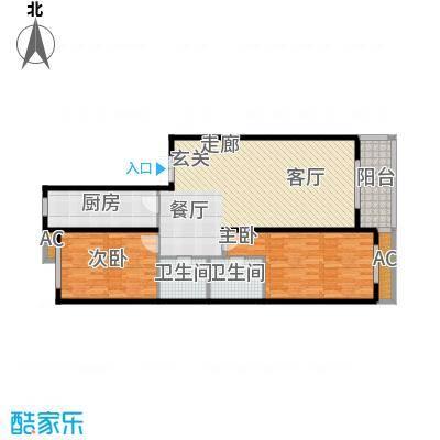 大唐天下江山大唐天下江山两室两厅两卫133.65平户型图户型2室2厅2卫
