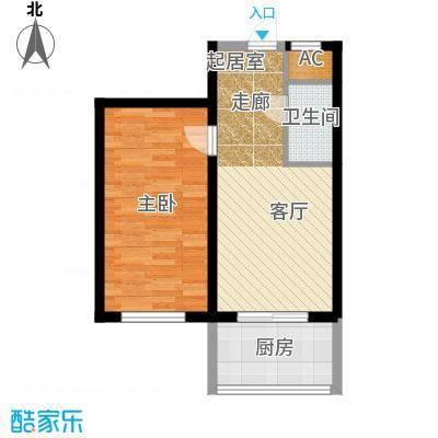 金岸名苑枫景轩金岸名苑-枫景轩一室一厅45--48平户型图户型1室1厅1卫