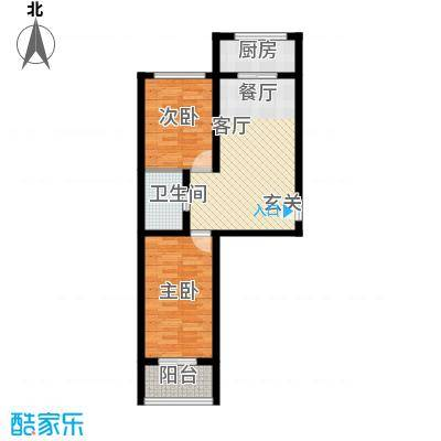 金丰.紫馨花园2室1厅1卫1厨70.00㎡户型2室1厅1卫