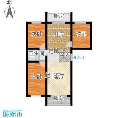 江岸龙苑99.00㎡江岸龙苑G户型三室两厅约99平米户型图户型3室2厅1卫
