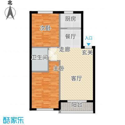 朝阳新苑朝阳新苑C1两室两厅一卫86.56户型图户型2室2厅1卫