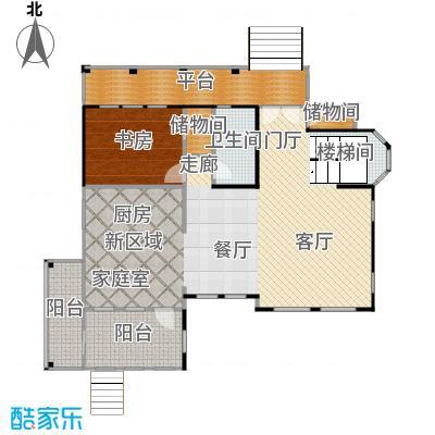 天恒别墅山119.92㎡独栋N1一层户型10室