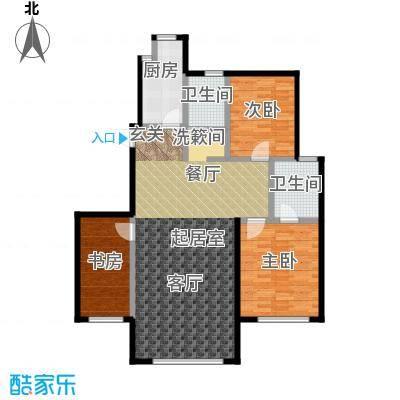 百合花园115.00㎡I户型 3室2厅2卫1厨户型