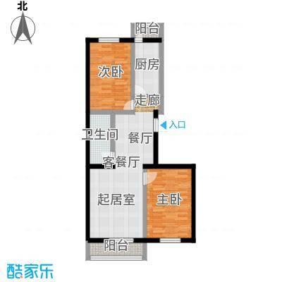 矩阵・天悦91.84㎡19号楼2单元两室户型2室1厅1卫1厨