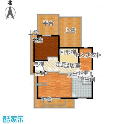 京基・鹭府A1双拼别墅三层户型2室3卫