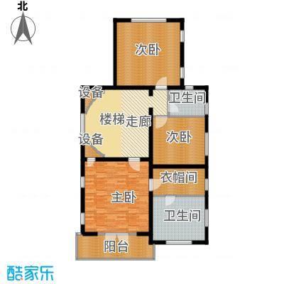 珠江紫宸山134.19㎡K08三层户型10室