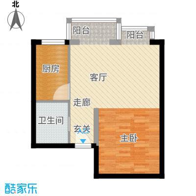 书香名邸48.79㎡11#标准层E一室一卫户型
