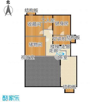 三水青清147.00㎡B1户型地下室平面图户型