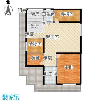 益阳江南古城户型2室2卫1厨