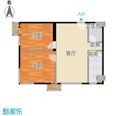 东亚上北中心79.69㎡3号楼C5户型二居户型