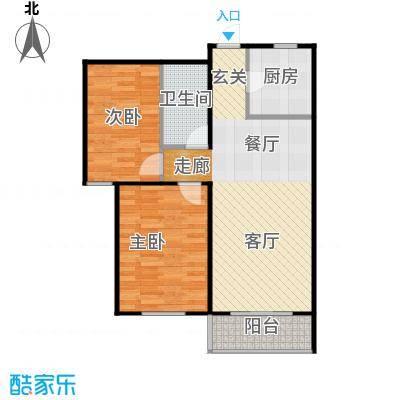 金海城90.39㎡C反户型 二室二厅一卫户型2室2厅1卫