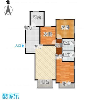 金海城115.52㎡A反户型 三室二厅二卫户型3室2厅2卫