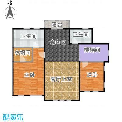 天恒别墅山111.00㎡nc-2户型2室1厅2卫