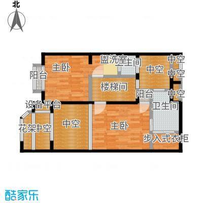 开维生态城102.59㎡Y1户型二层三房两厅三卫户型3室2厅3卫
