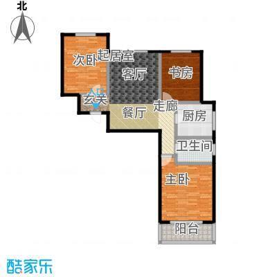 香港豪庭112.04㎡A座A三室两厅一卫户型