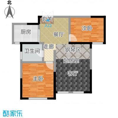 盛达金盘94.92㎡3#、4#、5#楼ABC单元02两室两厅一卫户型