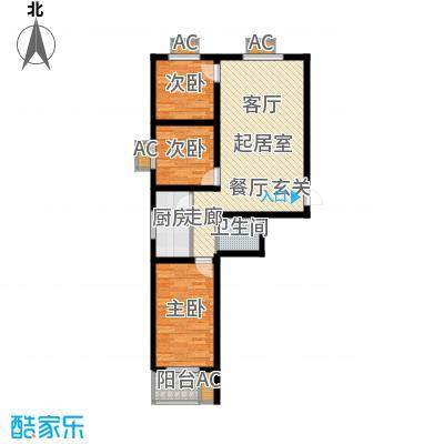 富景华庭3#楼A户型三室一厅一卫户型