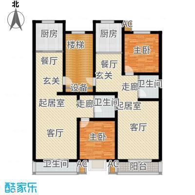 富景华庭75.53㎡一室两厅一卫B/C户型