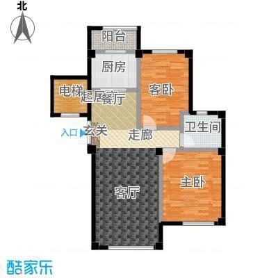 鼎盛佳苑92.00㎡2室2厅1卫户型