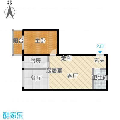 东杉国际82.15㎡6一室两厅一卫户型