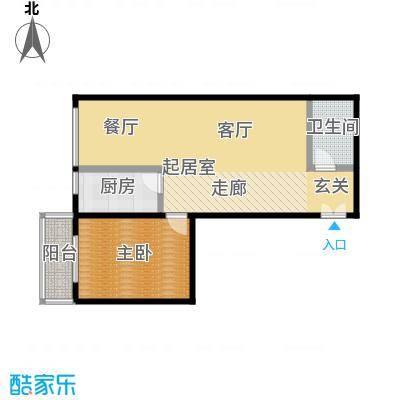 东杉国际82.15㎡5一室两厅一卫户型