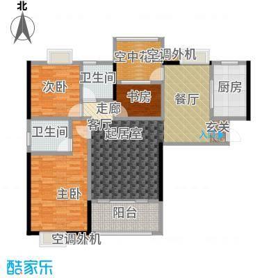 易景凯旋城115.06㎡户型图 三房两厅两卫 建筑面积:115.06㎡-115.68㎡户型3室2厅2卫
