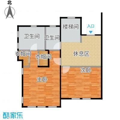 天恒别墅山73.28㎡N3二层左户型2室2卫