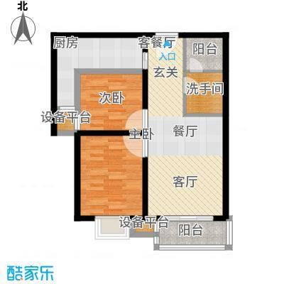 上上城青年社区二期84.00㎡B3户型 二室一厅一卫户型2室1厅1卫