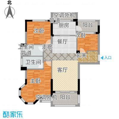 碧桂园滨湖城户型3室1厅2卫1厨