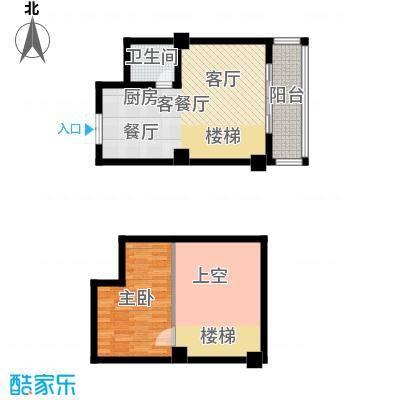 汇丰国际度假公寓一房一厅一厨一卫户型