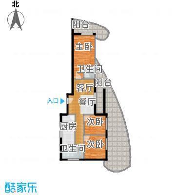 东方・龙湾130.58㎡七号楼C1户型3室2厅2卫 130.58平米户型3室2厅2卫