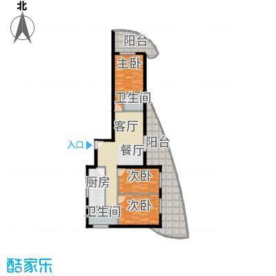 东方・龙湾93.23㎡七号楼B1户型2室2厅1卫 93.23平米户型2室2厅1卫