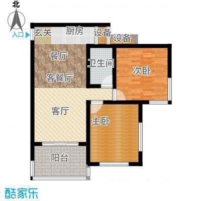 石梅山庄户型2室1厅1卫