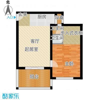 石梅山庄户型1室2卫