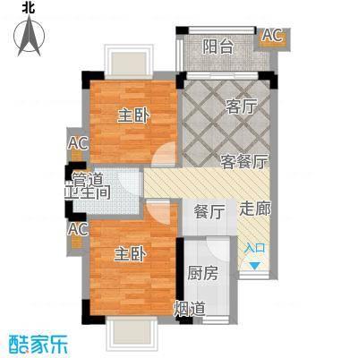美林湖国际社区68.31㎡1号楼 01、06户型2室2厅1卫