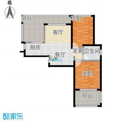 泉倾天下91.33㎡0106户型 两房一厅一厨一卫户型2室1厅1卫