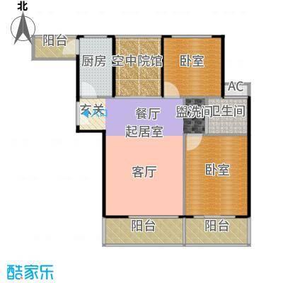 润德北京公园87.95㎡2室2厅1卫1厨87.95㎡户型