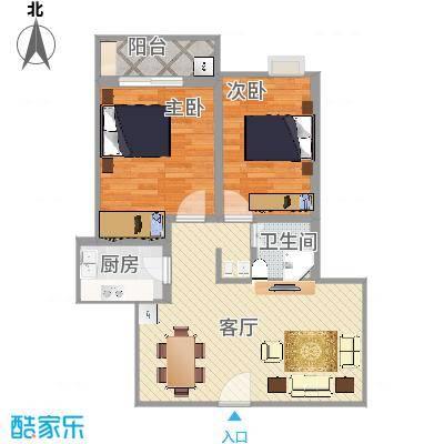 黄金海岸两室两厅户型图
