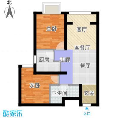 新华联慧谷金地格林格林户型2室1厅1卫1厨