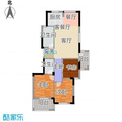 新华联慧谷赞成乐山红叶户型3室1厅2卫