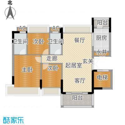 万好美域119.67㎡5栋01户型3室2厅2卫QQ