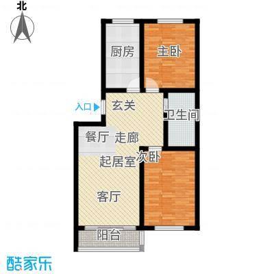 隆泰碧水山城隆泰・碧水山城D1户型两室两厅一卫约104-109平米户型图户型2室2厅1卫