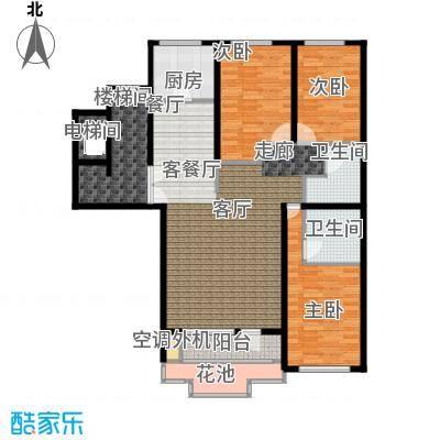 泊逸台泊逸台面积117-119平米三室两厅两卫户型图户型3室2厅2卫