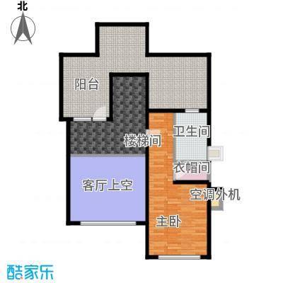 泊逸台泊逸台面积102-106平米(上跃)一室一厅一卫户型图户型1室1厅1卫