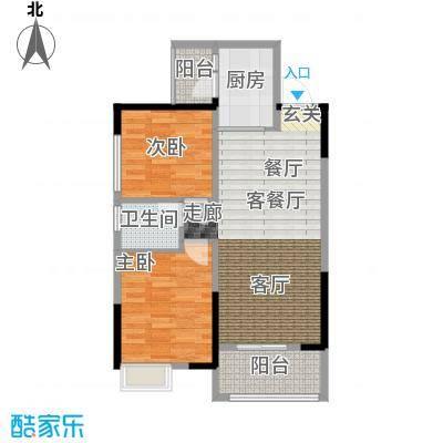 吉东托斯卡纳F1户型两室两厅一卫83.77-93.12平户型2室2厅1卫