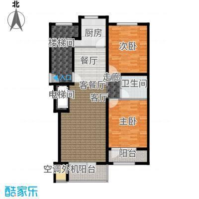 泊逸台泊逸台面积93-96平米两室两厅一卫户型图户型2室2厅1卫